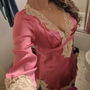 *Unique* silk and lace caftan